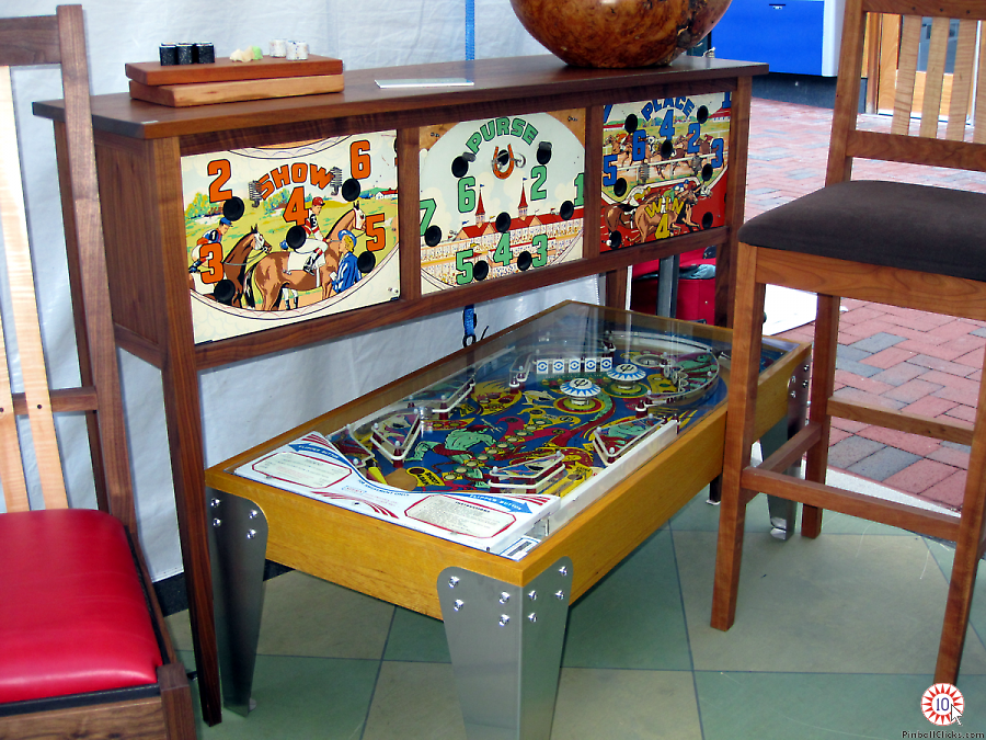 Mike Maxwell Incorporates Pinball Machine Parts Into His Fine Furniture