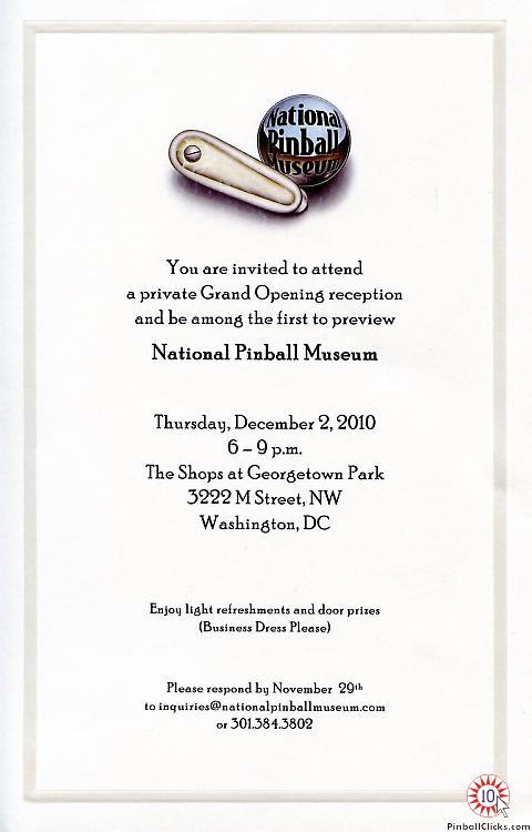 National Pinball Museum Grand Opening Reception Pinball Clicks