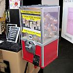 LYPC capsule vendor loaded with art by Jason Higgins.