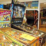 The National Pinball Museum has two galleries packed with pinball machines.