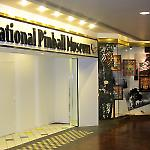 An entrance and display window for the National Pinball Museum.
