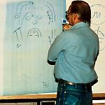 Ed Cebulas sketches the audience's design