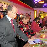 "Guests try the ""Pay to Play"" games at the National Pinball Museum."