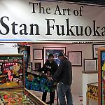 An exhibit of the art of Stan Fukuoka featured three playable Capcom games.