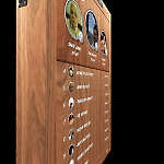 The Kronespillet HD game rotates to reveal a leaderboard on the back.