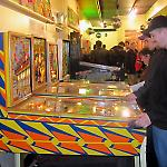 Players filled the Pinhead Gallery at the National Pinball Museum in Baltimore.
