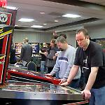 Practice games were available for free play at the Fairfax Pinball Open.