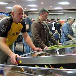 38 games were packed into the hotel ballroom for the Fairfax Pinball Open.