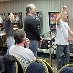 Qualifiers asked scorekeepers to record game scores at the Fairfax Pinball Open.