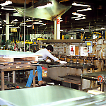 Sheet metal shearing at the Williams Pinball Factory