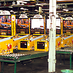 Testing Taxi games at the Williams Pinball Factory