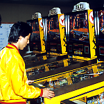Playing Williams Taxi at Pinball Expo '88