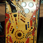 Data East Laser War whitewood playfield