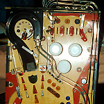Data East Laser War whitewood upper playfield