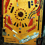 Data East Laser War whitewood lower playfield