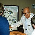 Harvey Heiss explains his Baby in the Hole prototype at Pinball Expo '88.
