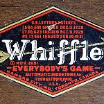 Decal identifies Whiffle pinball game