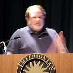 David Silverman lectures about pinball at the Smithsonian.